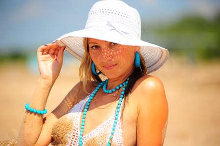 The girl on a beach Stock Photo - 13734707