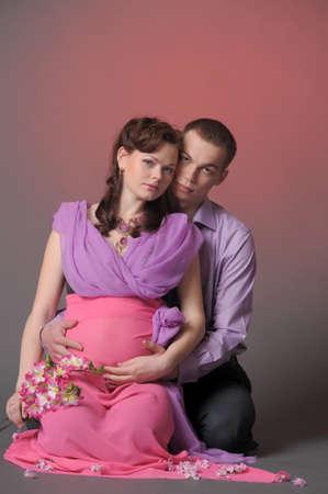 happy pregnant couple Stock Photo - 10740240