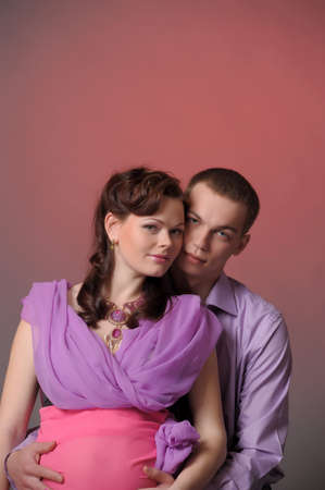 happy pregnant couple Stock Photo - 10740260