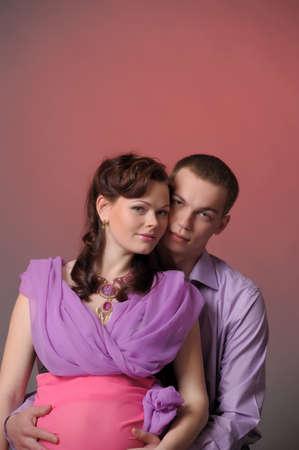 happy pregnant couple Stock Photo - 10740260