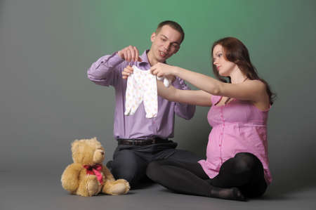 Happy pregnant couple Stock Photo - 10747010