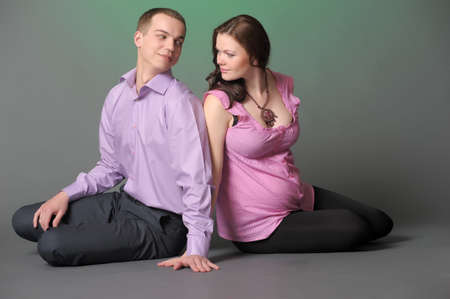 Happy pregnant couple photo