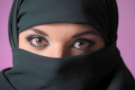 Asian woman in a headscarf