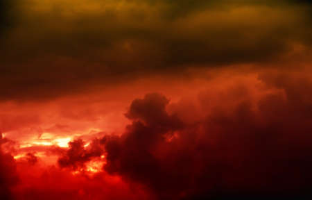 clouds scape: red sunset