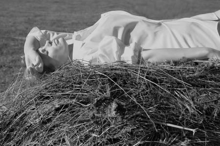 haymow: blonde in a haystack