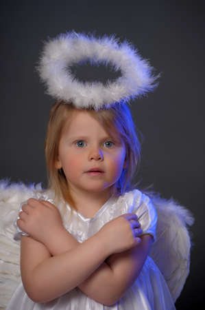 seraphic: Girl in angel costume