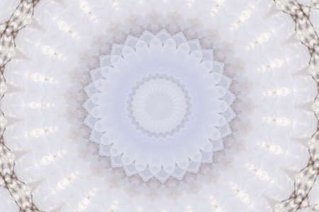 dualistic: white circular pattern Stock Photo