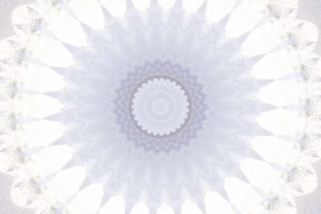 kaleidascope: white circular pattern Stock Photo
