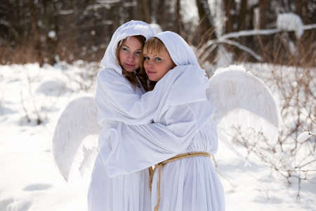 two Christmas angel photo