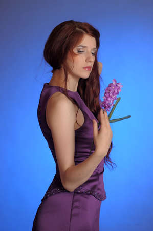 Girl in purple dress Stock Photo - 13253100