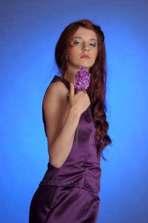 Girl in purple dress Stock Photo - 13253102