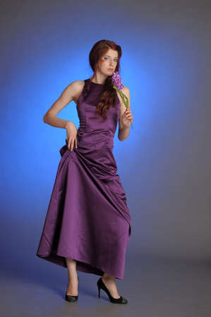 Girl in purple dress photo