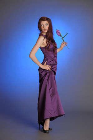 Girl in purple dress Stock Photo - 13236061