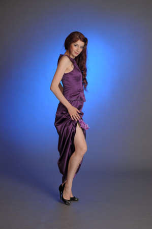 Girl in purple dress Stock Photo - 13253106