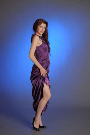 Girl in purple dress Stock Photo - 13228890