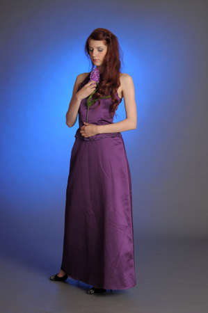 Girl in purple dress Stock Photo - 13253103