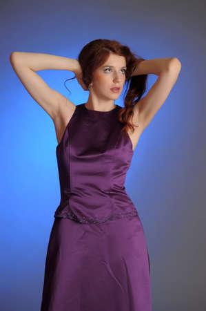 Girl in purple dress Stock Photo - 13236045
