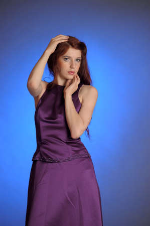 Girl in purple dress Stock Photo - 13236046