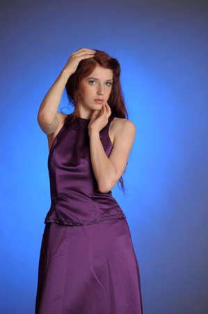 Girl in purple dress Stock Photo - 13236046