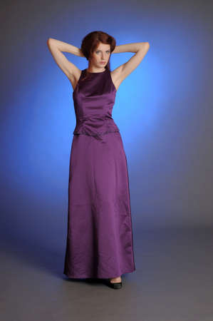 Girl in purple dress Stock Photo - 13236044
