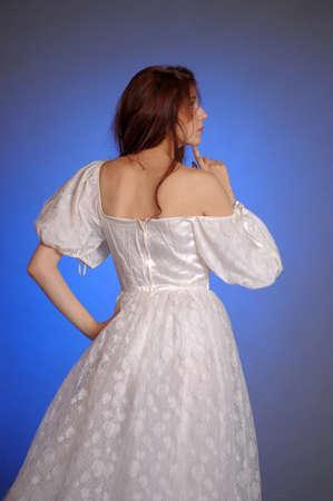 periods: girl in retro dress