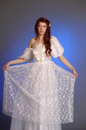 happy 18th: girl in retro dress