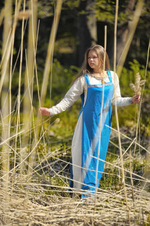 girl in ethnic dress in the park Stock Photo - 12233418
