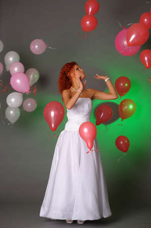 Cheerful bride photo