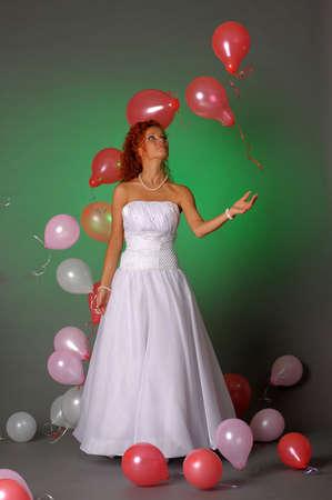 Cheerful bride Stock Photo - 13216471