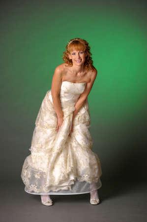Blond bride  Stock Photo