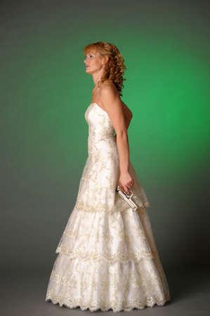 bride with a gun Stock Photo - 10323610