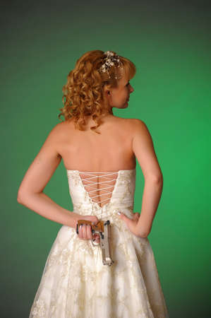 bride with a gun Stock Photo - 10323607