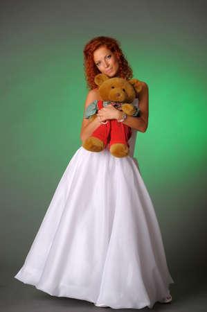 girl with a teddy bear photo