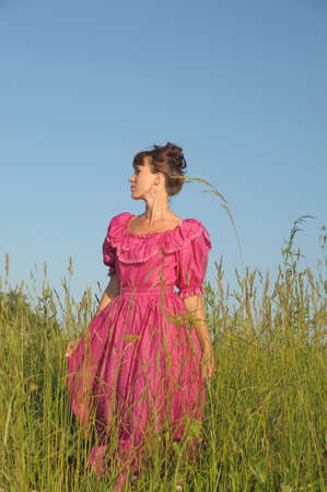 Victorian style woman  Stock Photo