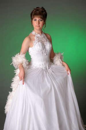beautiful bride in the studio photo