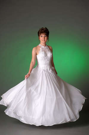 bride in wedding dress in the studio photo