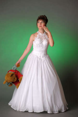 Bride with toy  photo