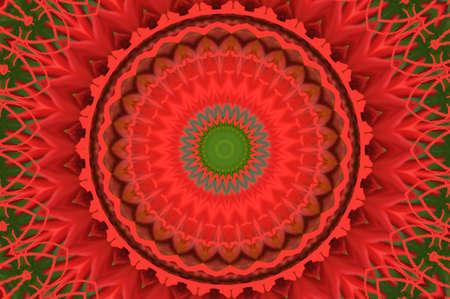 red circular geometric pattern photo