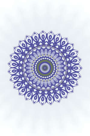 ayurveda: violet circular ornament