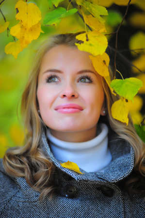 girl in autumn park Stock Photo - 10564357