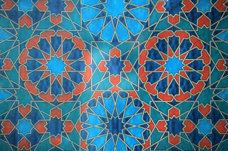 sumptuousness: Oriental decoration in blue and red colors