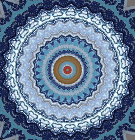 majolica: oriental ornament in blue