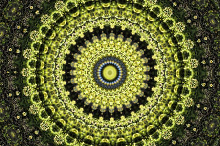 optical people person planet: green circular ornament