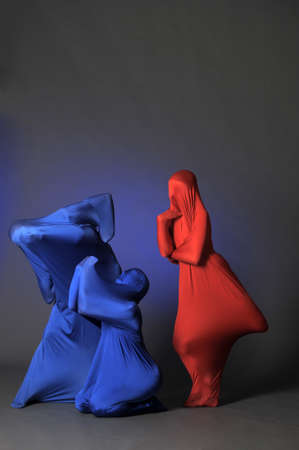 three abstract human figures Stock Photo - 13292701