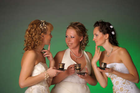 three brides talk Stock Photo - 10695386