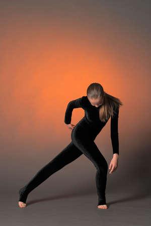 Beautiful flexible gymnast  photo