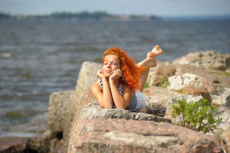 Red haired sailor girl Stock Photo - 10828724