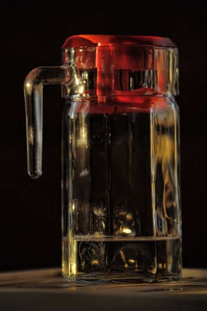 Glass decanter with water  photo