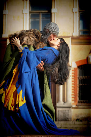 love story in the medieval style photo