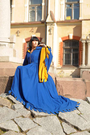 woman in medieval costume photo